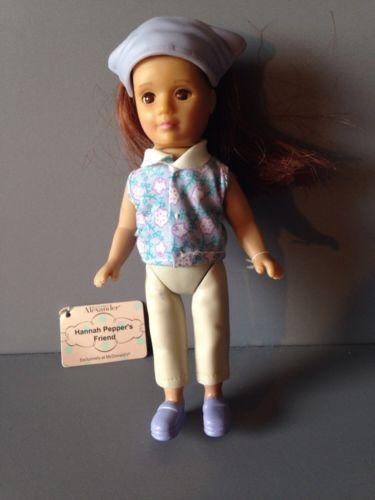 "#8 Hannah Pepper/'s Friend Madame Alexander Doll 5/"" McDonalds in Purple 2003"