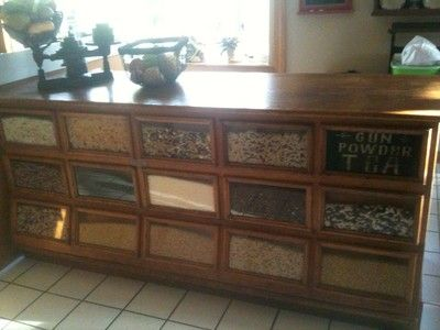 Antique Oak Country Store Display Bean or Seed Counter | eBay - Antique Oak Country Store Display Bean Or Seed Counter EBay