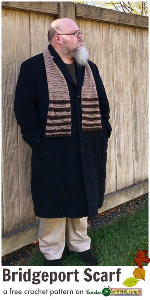 Free Pattern - Bridgeport Scarf | Men\'s Crochet | Pinterest