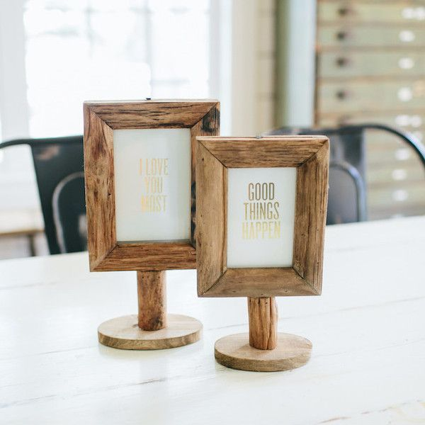 Wood Frame on Stand | Joanna gaines, Woods and Barn wood projects