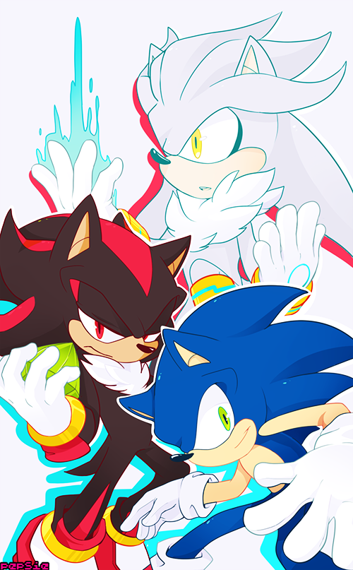 Sonic Shadow Silver With Images Shadow The Hedgehog Hedgehog Art Silver The Hedgehog