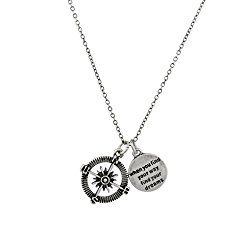 A compass necklace is a meaningful gift to give older Girl