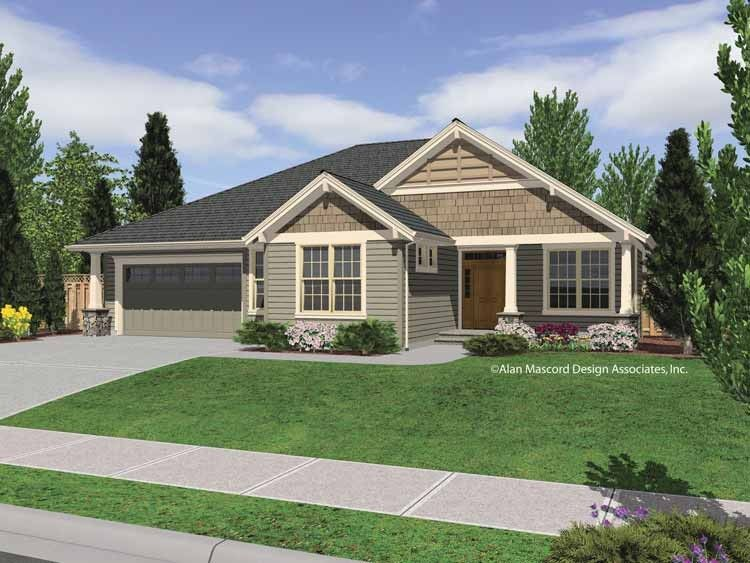Craftsman house plan with 2000 square feet and 4 bedrooms for 2000 square foot home plans
