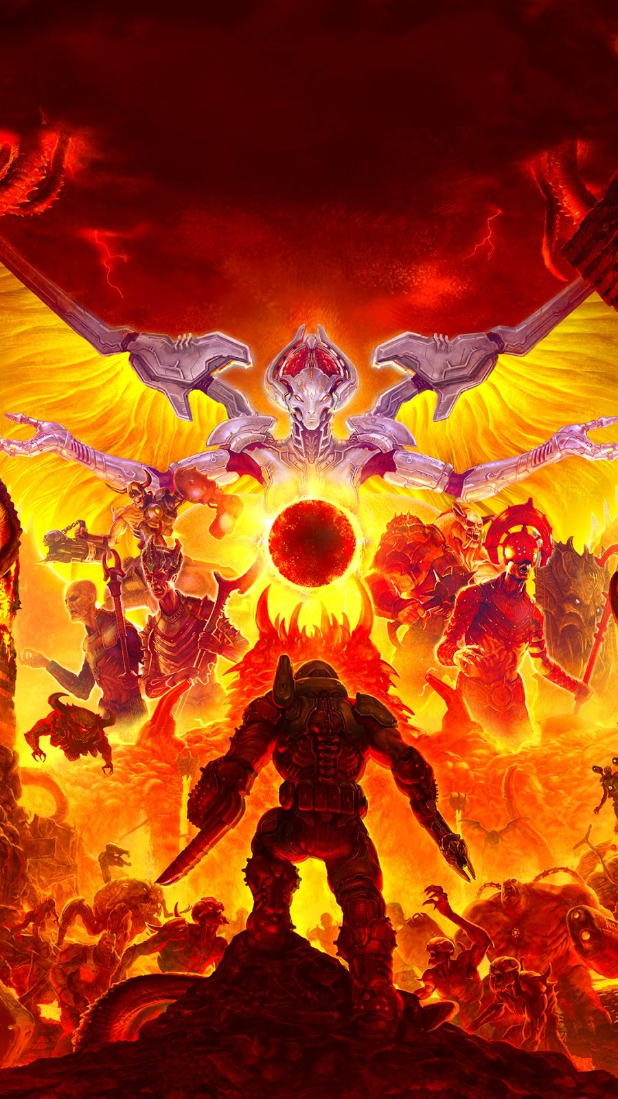 Doom Eternal Video Game Mobile Wallpaper In 2020 Doom Videogame