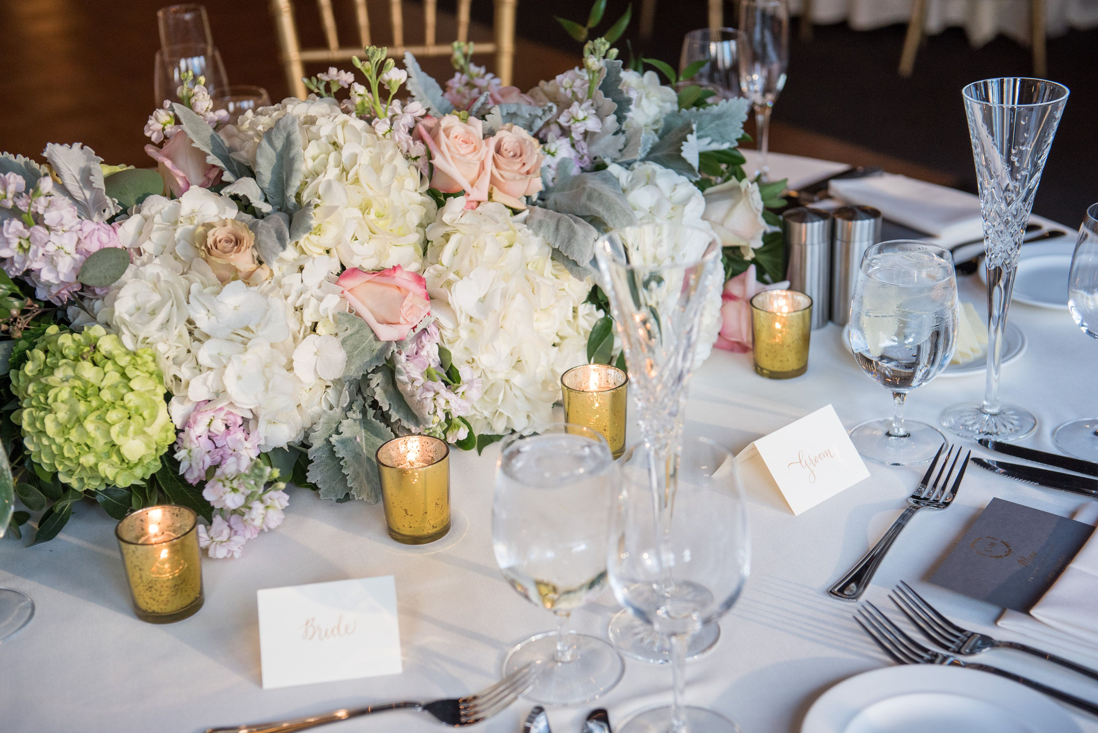 Bella Floral did an amazing job with these center pieces! Photograph by Gerber & Scarpelli