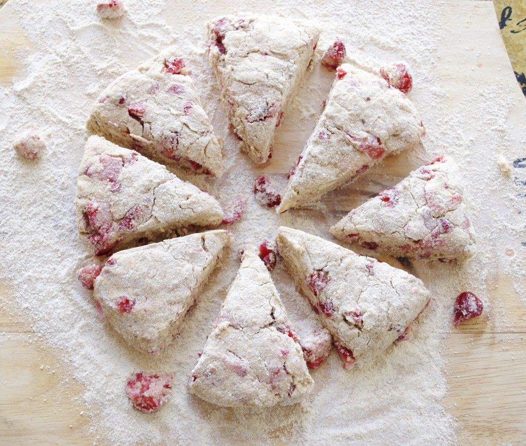 these fresh strawberry scones can be whipped up, baked and melting in your mouth in 30 minutes.