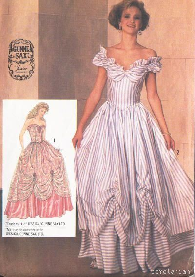 Gunne Sax Simplicity Pattern, 1980\'s | Simplicity patterns 1980\'s ...