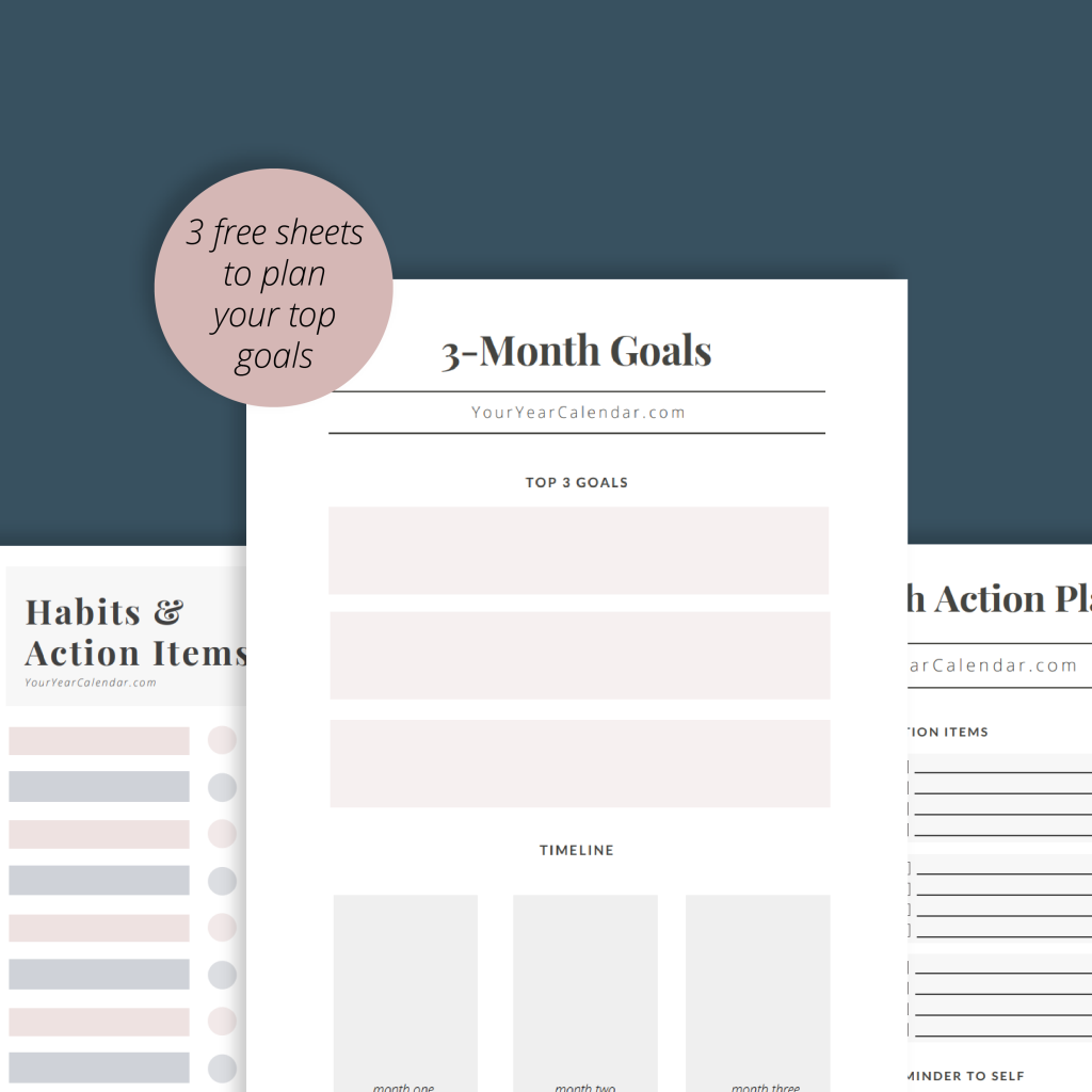Download Our Free Worksheet To Set Your Goals List Action