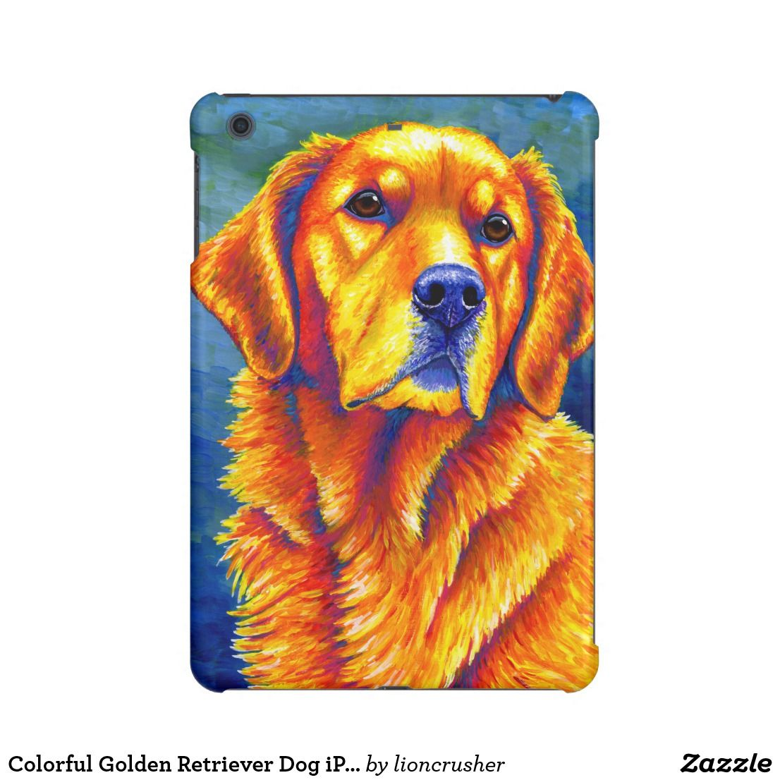 Colorful Golden Retriever Dog Case Savvy Ipad Case Zazzle Com