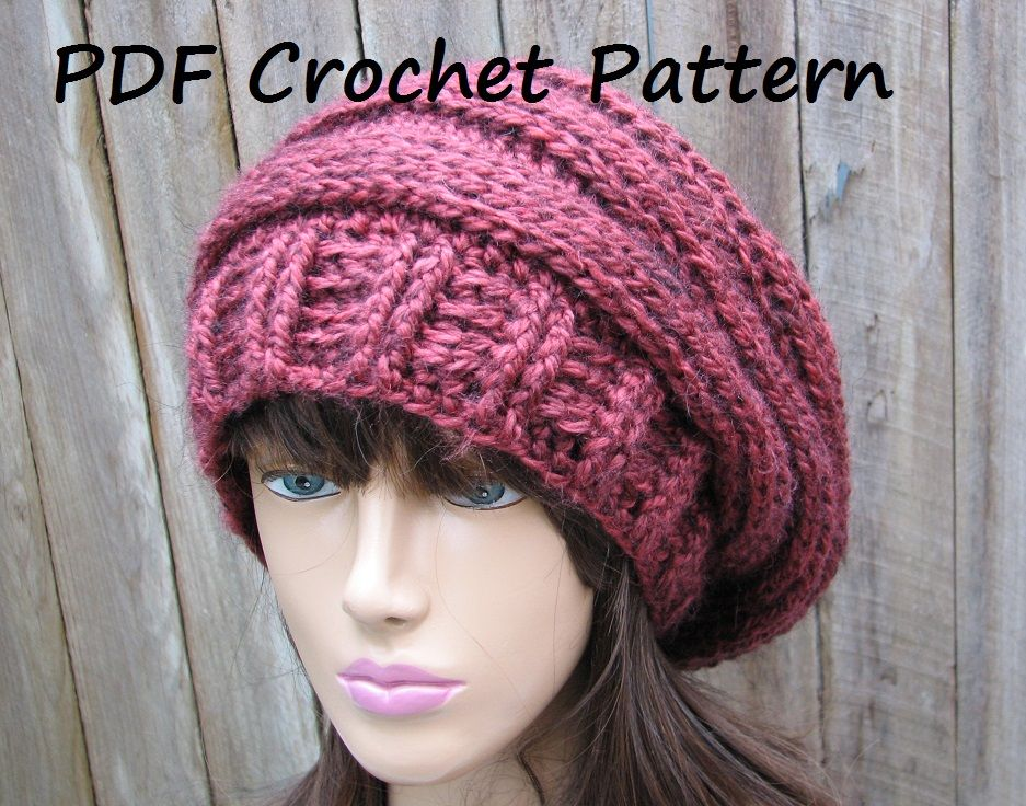Crochet pattern crochet hat sl slouchy hat hat crochet and crochet pattern crochet hat sl dt1010fo