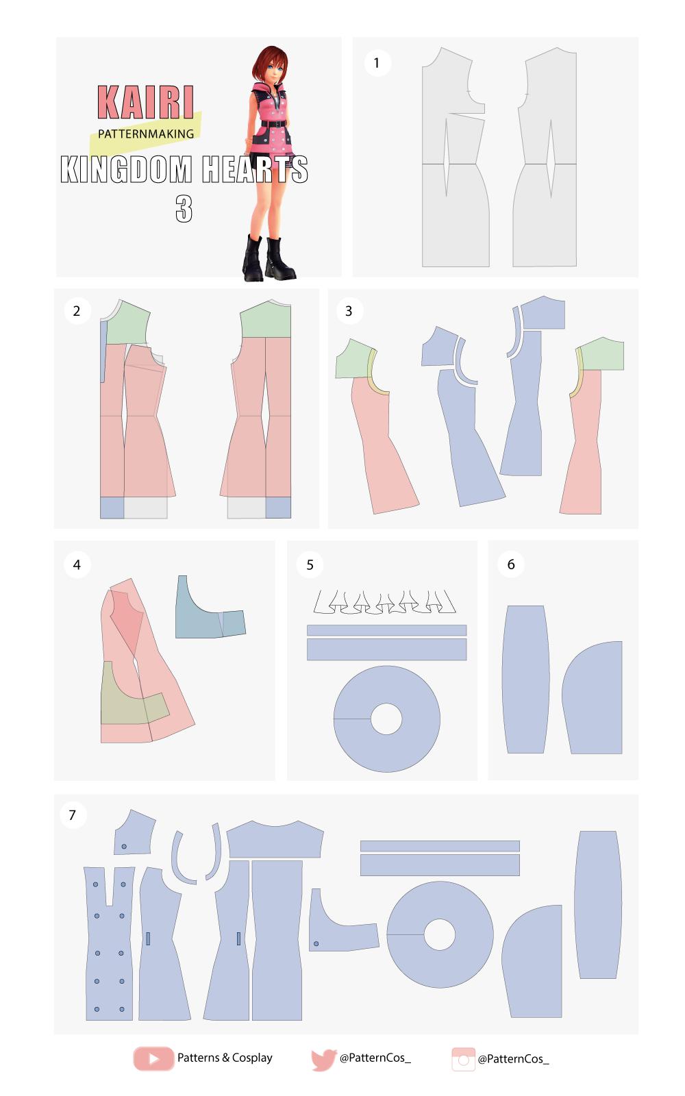 Kairi Kingdom Hearts 3   Cosplay Sewing Pattern   disfraz ...