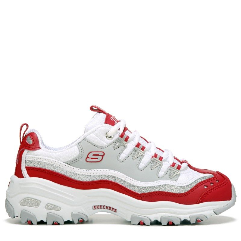 blanche red blue skechers