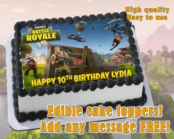 Fortnite Cake Topper Sugar Sheet Edible Print Birthday Party