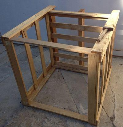 Estrucutura de madras de palets para la fabricaci n del for Fabricacion de muebles con palet de madera
