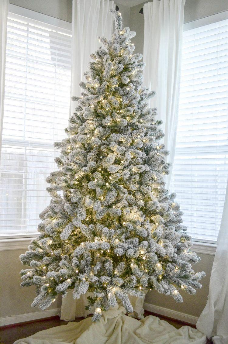 King of Christmas Flocked Tree Review | Christmas tree | Pinterest ...
