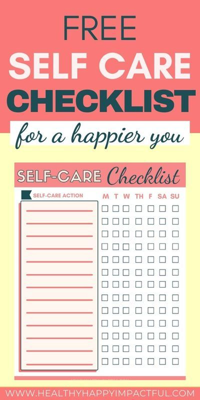 A Weekly Self Care Checklist to Feel Amazing {Free ...