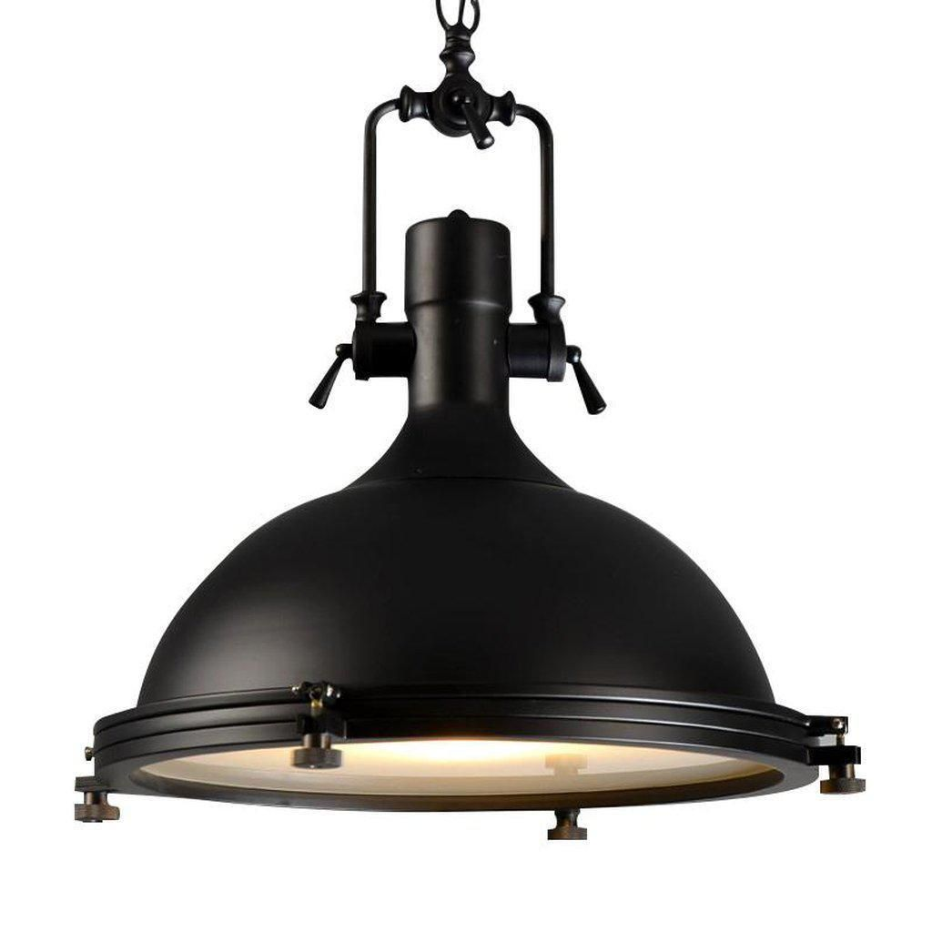 Photo of Classic Black Large Nautical Pendant Light – Modern Industri…