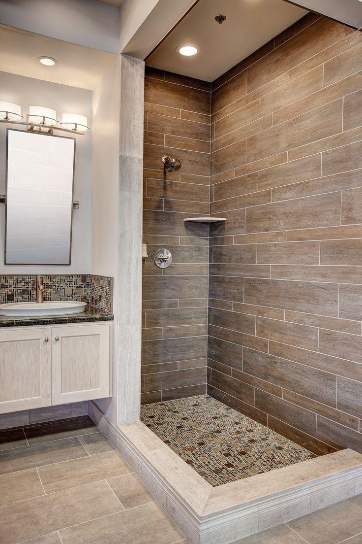 houzz bathrooms vintage  beige tile bathroom wood tile