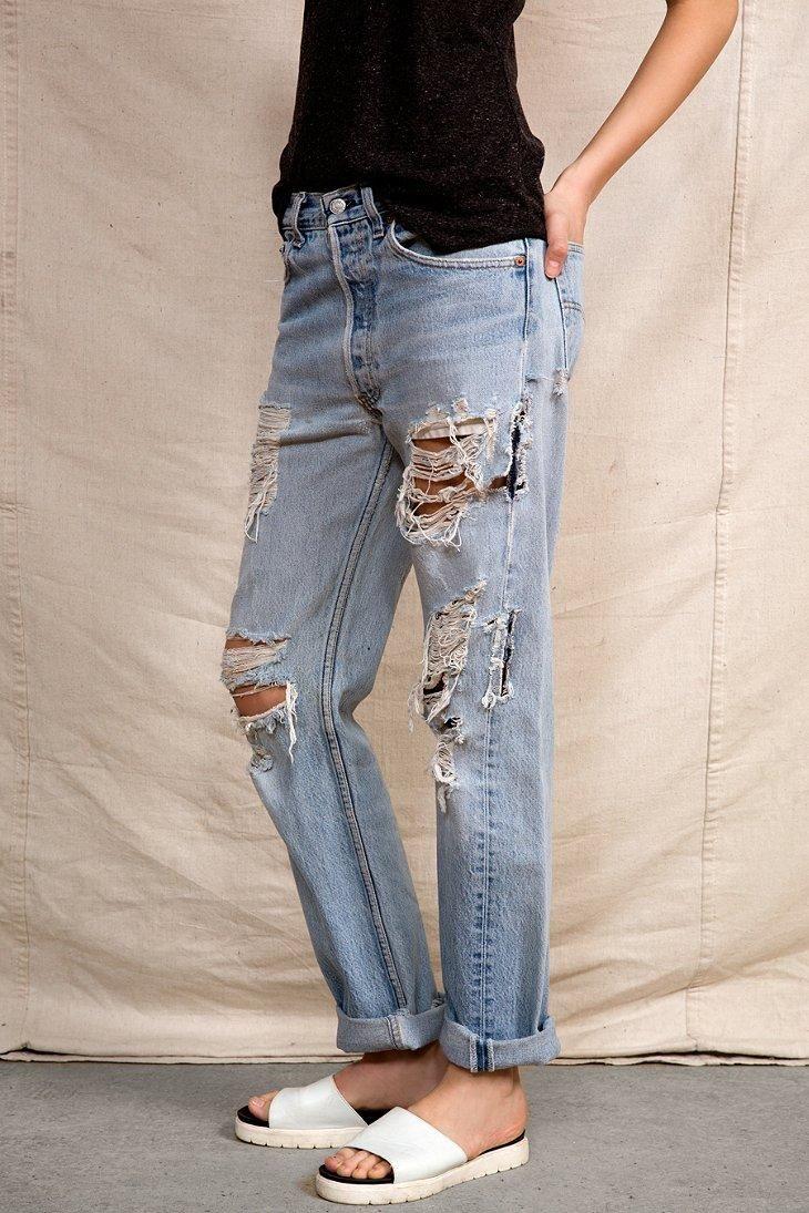23f844c8 Urban Renewal Levi's Super-Destroyed Jean | #UODenim | Fashion ...