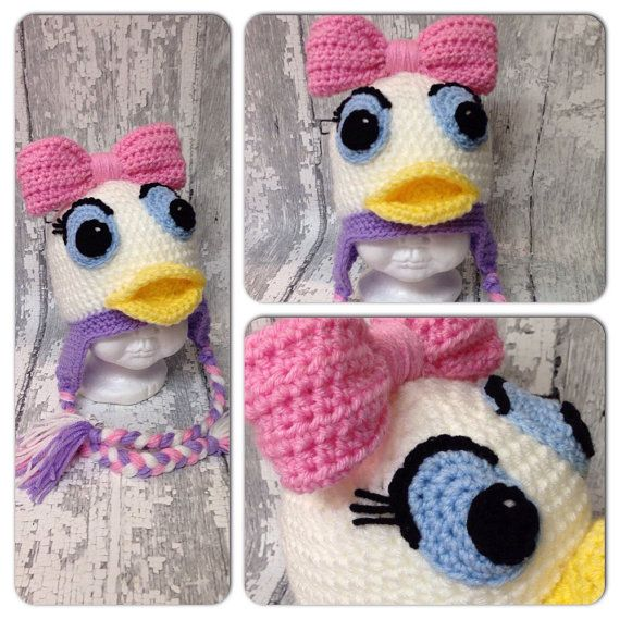 MADE TO ORDER Crochet Cute as a Daisy Duck by WoolyKnitsandCrochet