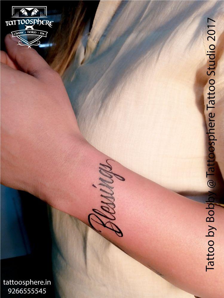 8399e5fd8b779 Blessings Tattoo #blessings #girltattoo #wrist #wristtattoo #tattooonwrist  #fonttattoo #blessingstattoo #tattoosphere #tattoospheretattoostudio ...