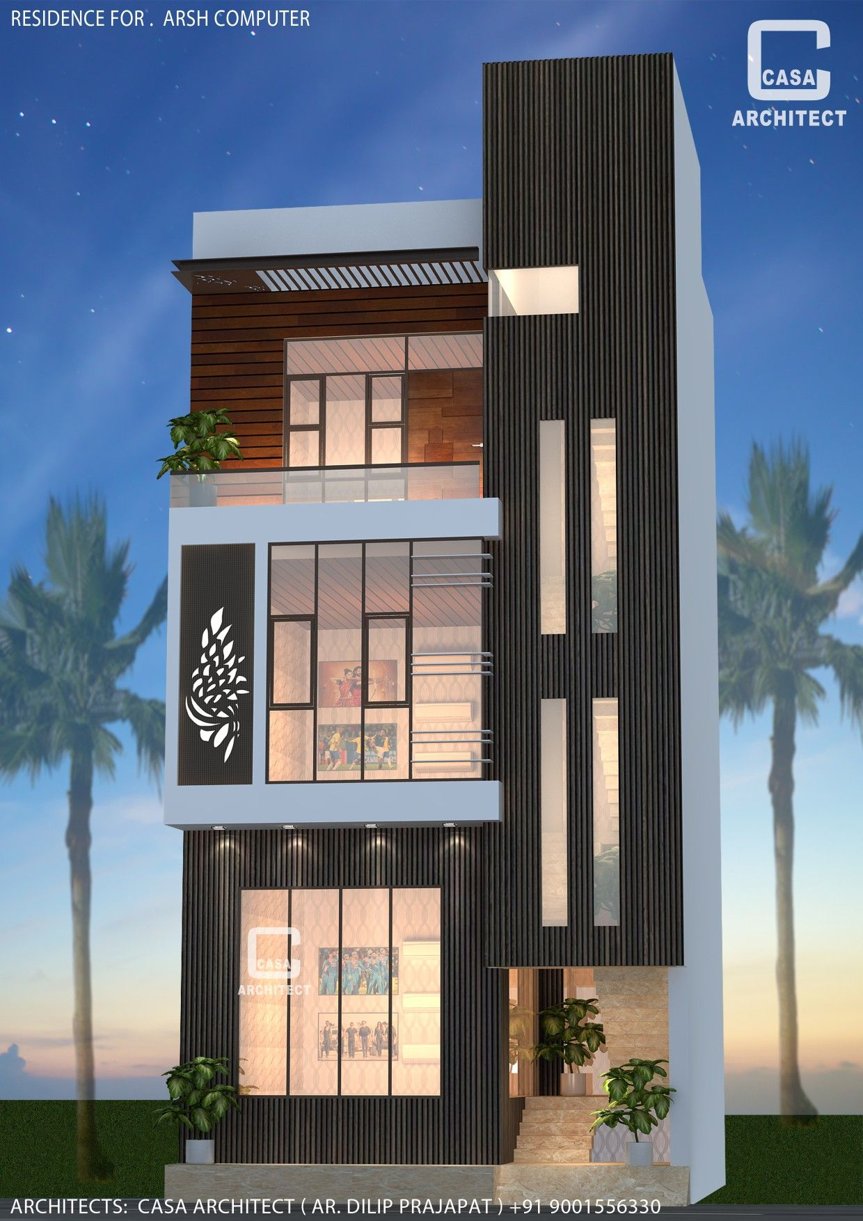 Modern Commercial Building Design By Casa Architect Small House Elevation Design Small House Design Plans 3 Storey House Design