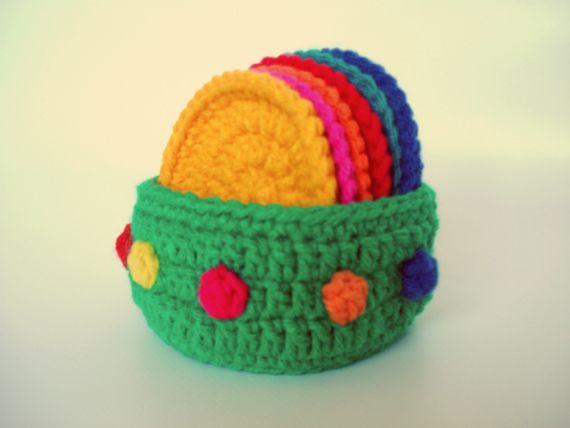 SET DE POSAVASOS - Crochet - Tejidos de Punto -   CROCHET ...