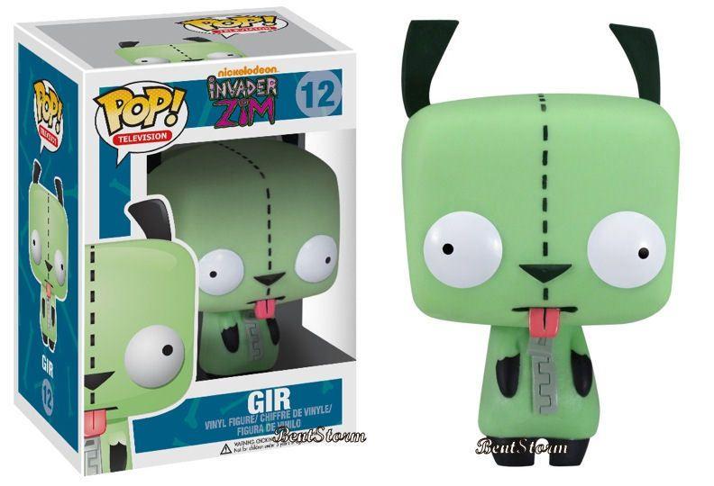 New Rare Invader Zim Gir Pop Television Vinyl Figure Funko Nickelodeon Figurine Ebay Pop Toys Pop Figurine Funko Pop
