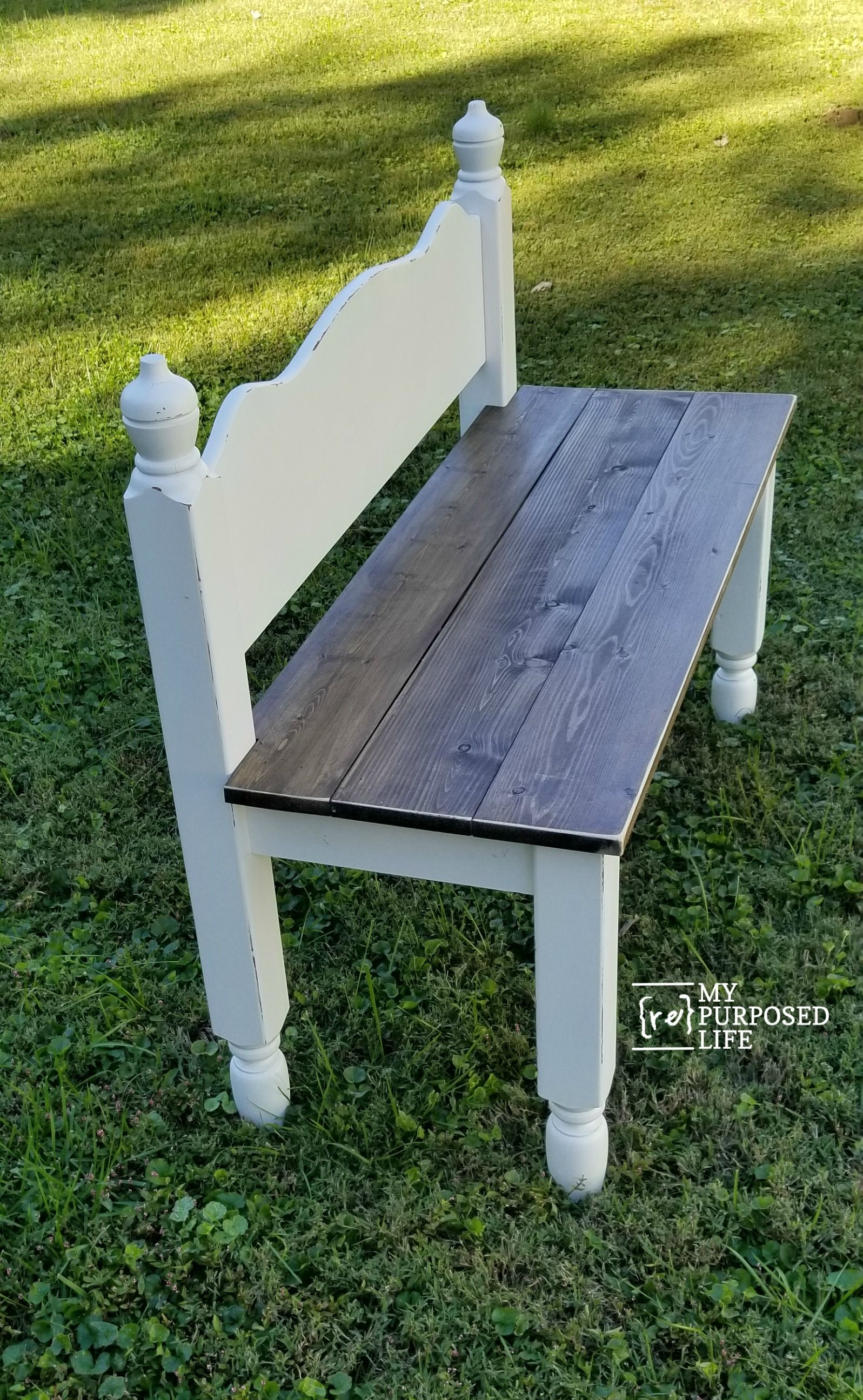 Stupendous Twin Bed Bench Easy Headboard Bench Tutorial How To Diy Evergreenethics Interior Chair Design Evergreenethicsorg