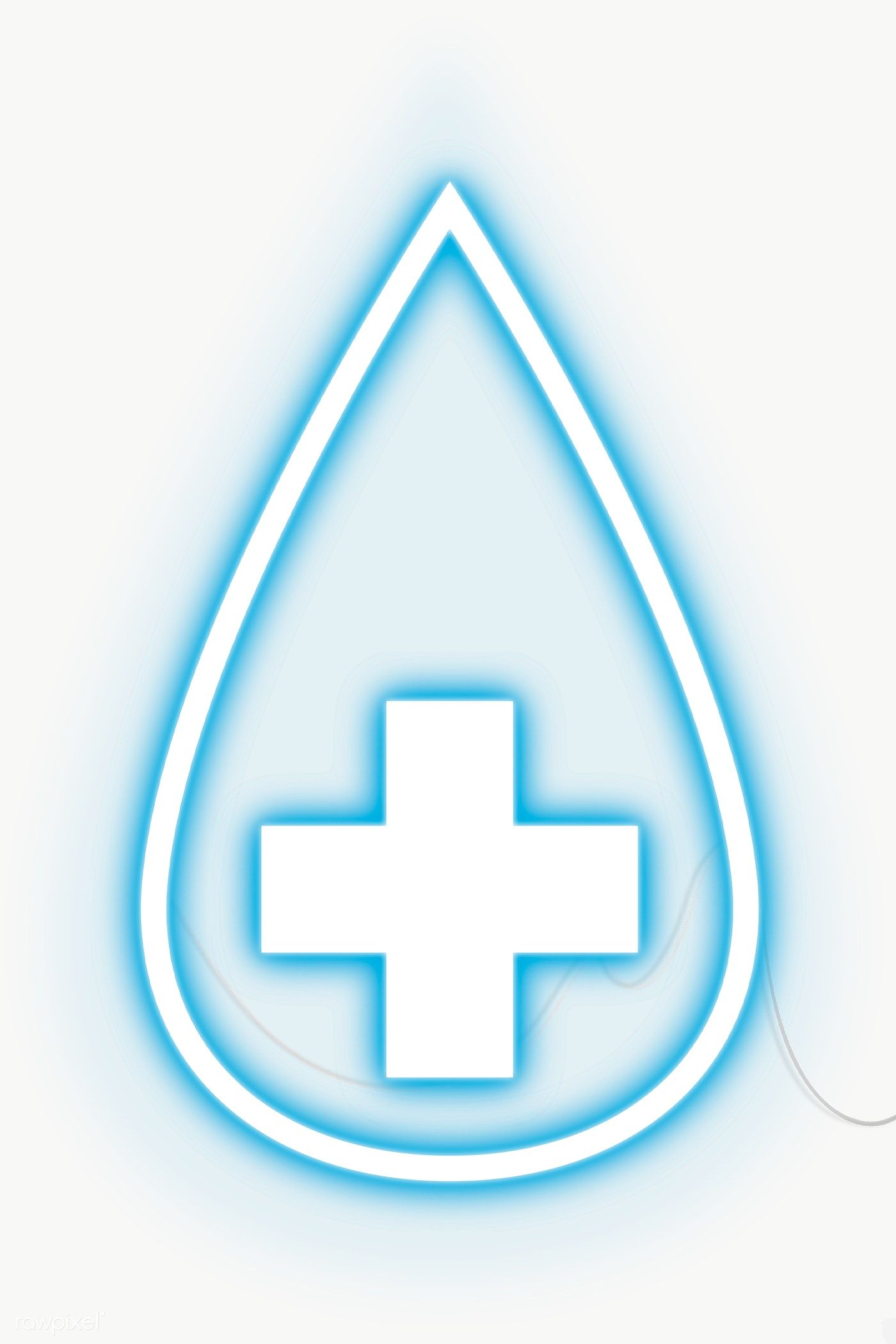 Blue Sanitise Neon Icon Transparent Png Free Image By Rawpixel Com Chayanit Neon Png Free Illustrations Neon