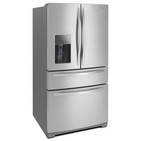 Lowes: Whirlpool Ft French Door Refrigerator With Single Ice Maker  (Monochromatic Stainless Steel)
