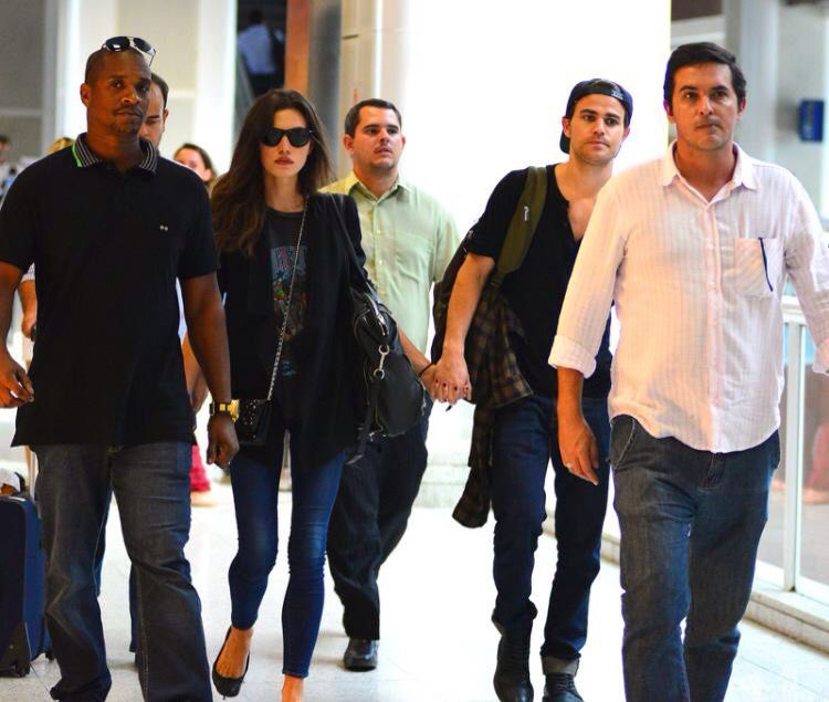 Phoebe tonkin and Paul Wesley Brazil 04.05.2015 leaving RJ