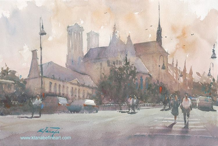 Reims France I Watercolor By Keiko Tanabe Watercolor Artists