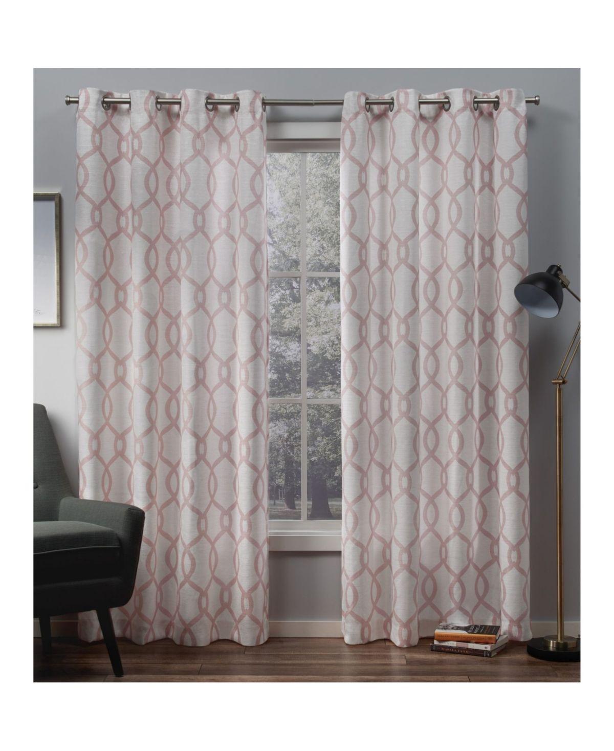 Exclusive Home Kochi Linen Blend Grommet Top Curtain Panel Pair