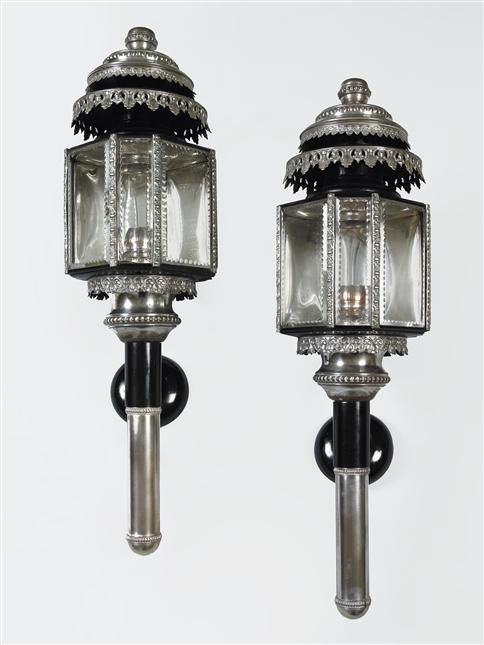 A Pair Of 19th Century Carriage Lamps England Circa 1850