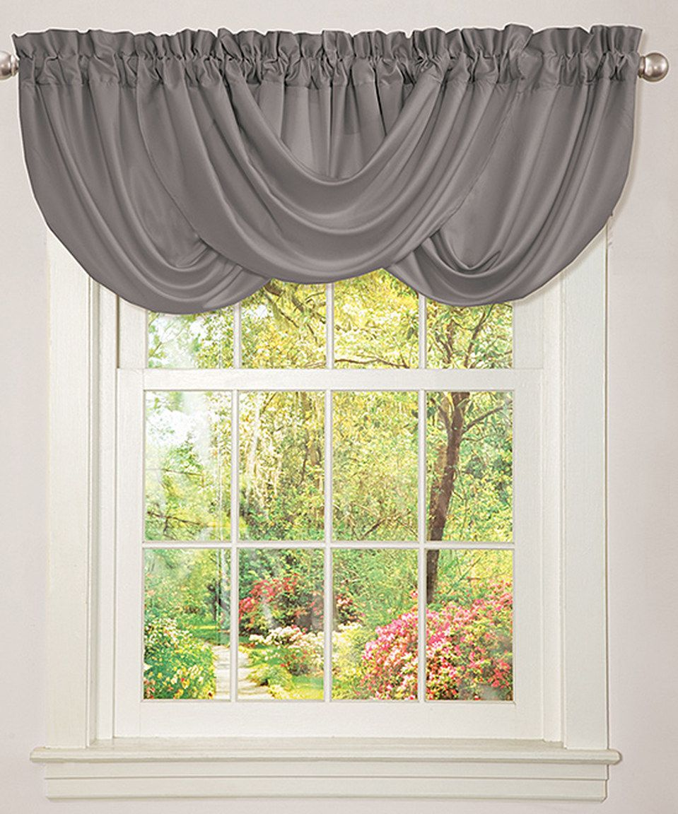 3 window bedroom  another great find on zulily gray lucy valance by lush décor