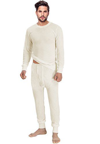 e6e19c36b128 Introducing Rocky Mens Thermal 2pc Set Long John Underwear Medium Natural.  Great product and follow us for more updates!