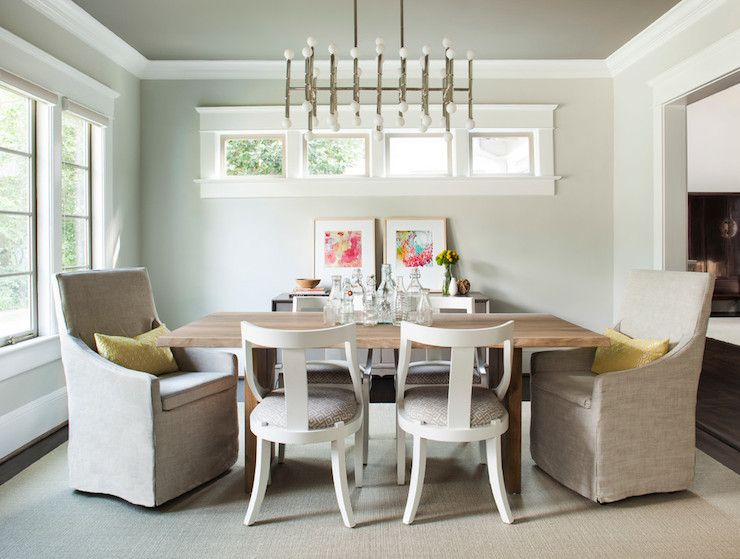 Meurice Chandelier In Nickel From Jonathan Adler   Rectangle Shape Of The  Light Fixture Works Well · Transitional Dining RoomsContemporary ...