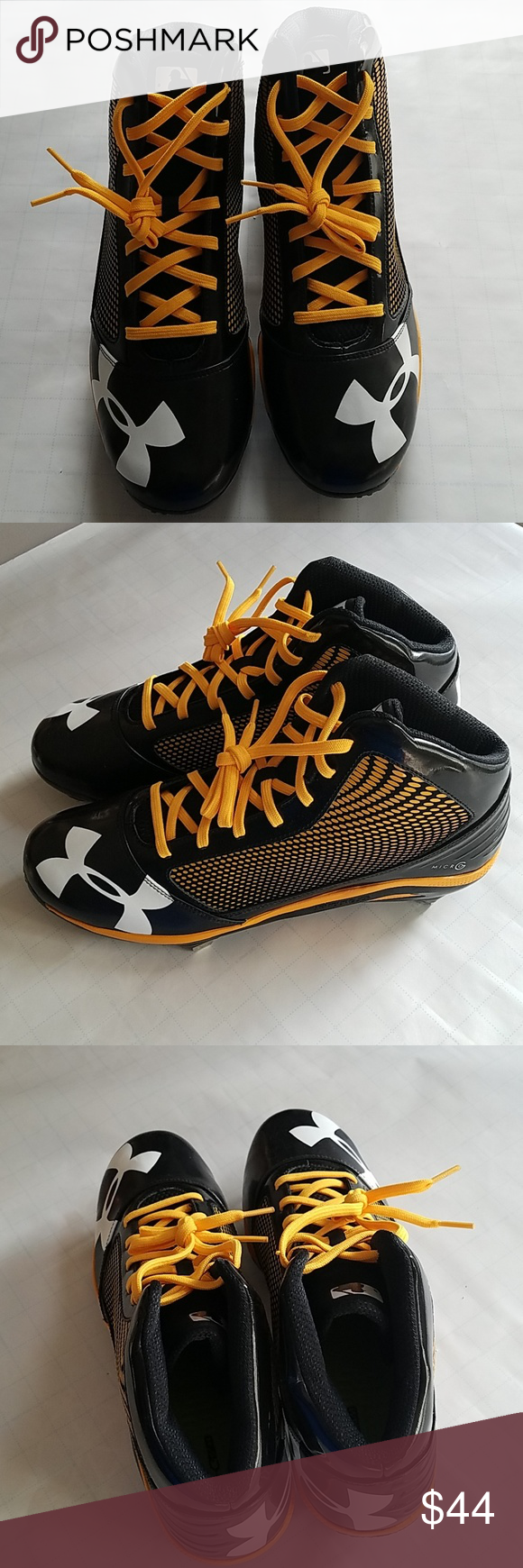 Under Armour Baseball Cleats New Under Armour Baseball Cleats Mens Size 14 4d Foam Insole For Comfort Under Armour Baseball Cleats Cleats Under Armour Shoes