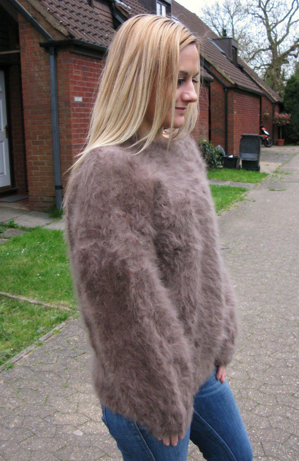 Woman's angora sweater... | Woman's Fuzzy Sweaters | Pinterest ...