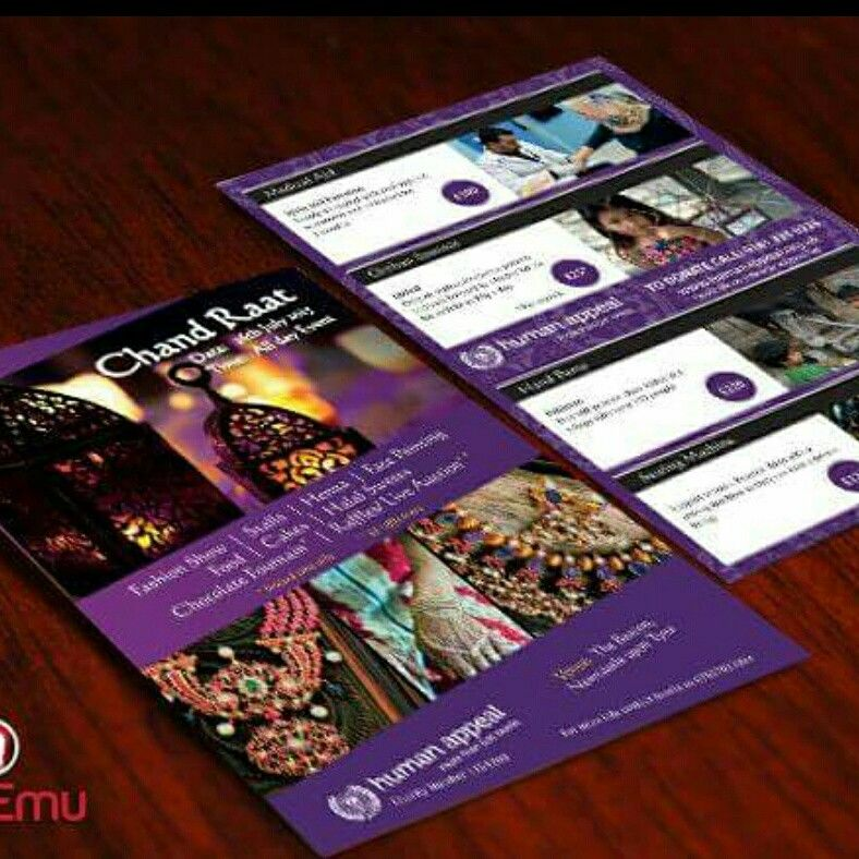 Human Appeal, Chand Raat 2015 flyer design and print, Newcastle and ...