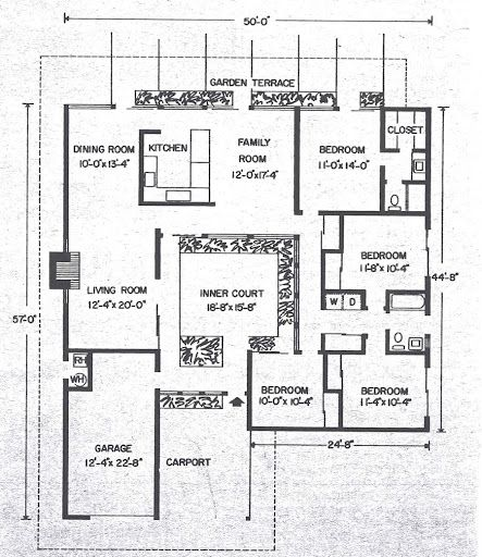 Pin By Heidi Johnson On Eichlers Mid Century Modern House Plans Modern House Plans Modern Floor Plans