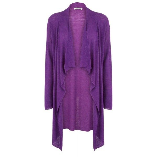 Purple Waterfall Cardigan ($46) found on Polyvore | My Style ...
