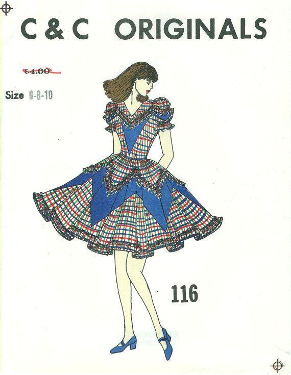 C and C Originals 116 - SQUARE DANCE DRESS