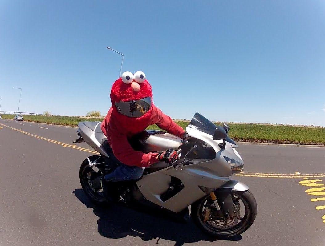 Elmo Lives To Ride Motorcycle Helmets Motorcycle Helmet