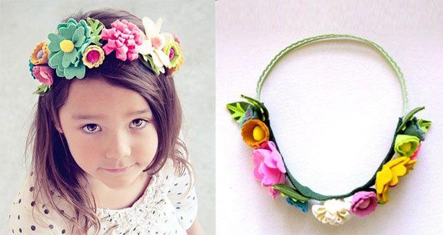 Diademas y coronas de fieltro para niñas ¡El complemento perfecto! ,  Calzado Infantil y