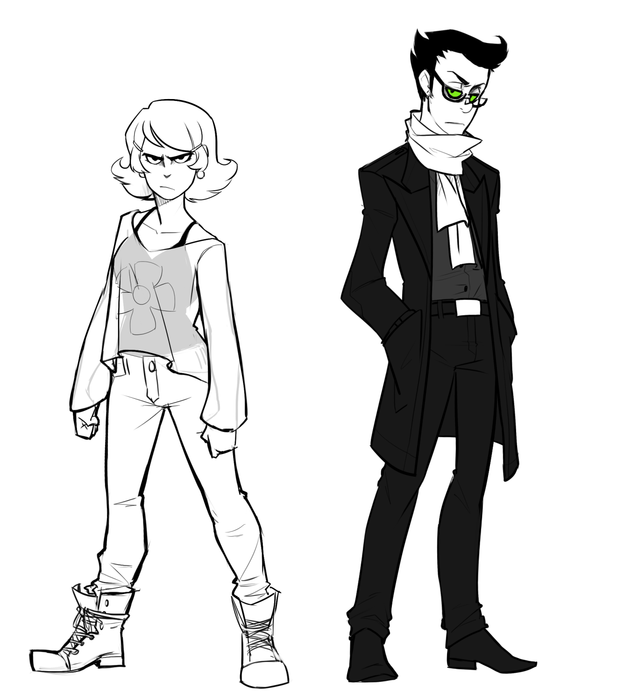 Drew two of my favorite kids from Grim Adventures of Billy and