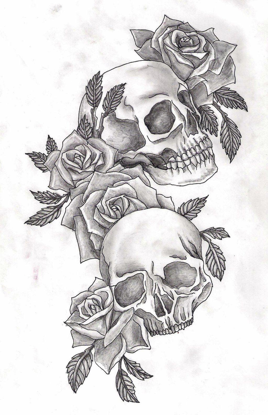 DeviantArt More Like skulls and roses by Adler666 (With