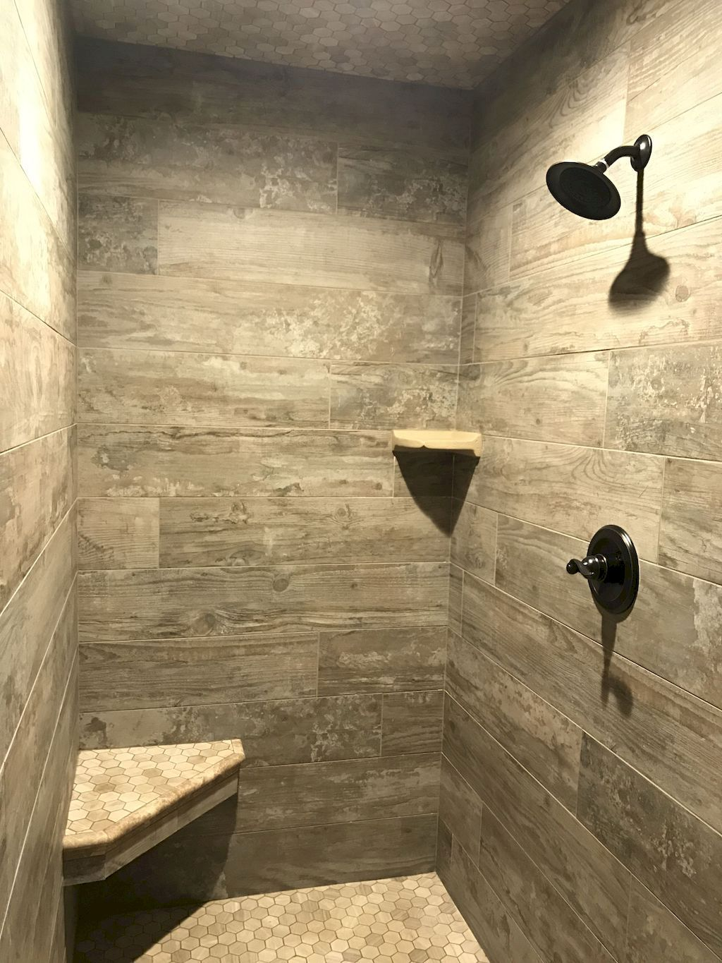 80 Awesome Farmhouse Tile Shower Decor Ideas | Tile showers, Master ...