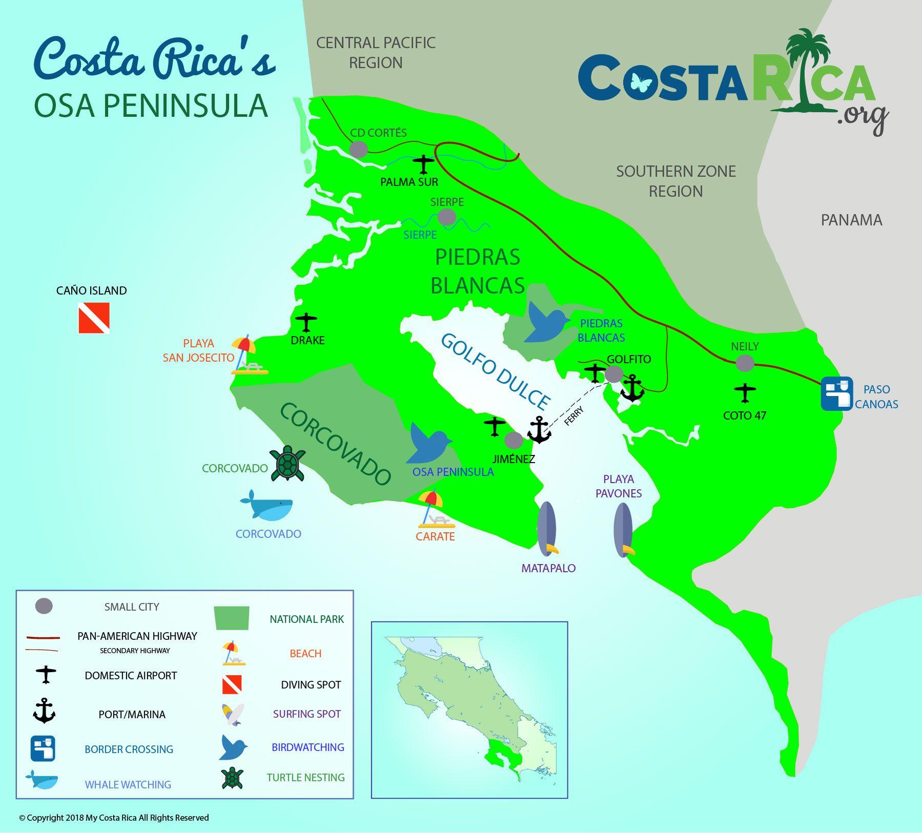 osa peninsula costa rica map Osa Peninsula In Costa Rica A Lost Paradise You Must See Costa osa peninsula costa rica map